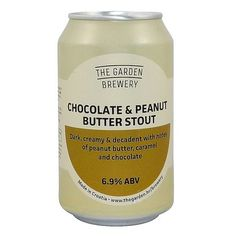 The Garden Brewery Chocolate & Peanut Butter Stout Peanut Butter Stout, Chocolate Peanut Butter, Garden Brewery, Chocolate Caramels, How To Make Chocolate, Ipa, Craft Beer, Food, Brewery