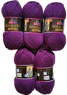 5 x 100 Gramm Babywolle beere lila 80106, 500 Gramm Wolle Super Bulky zum Stricken und Häkeln
