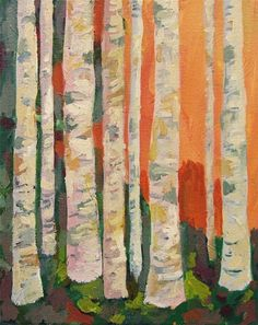 "Birch Trees Art Print - As seen on the set of ""Modern Family"" TV show. $15.00, via Etsy."