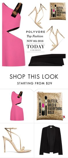 """""""Top Fashion Items for 11/8/16"""" by renna-ravenwood ❤ liked on Polyvore featuring FAUSTO PUGLISI, Sephora Collection, Gianvito Rossi, American Vintage and Levi's"""
