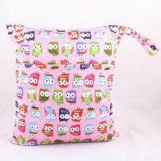 Wet Dry Bag With Two Zippered Baby Diaper Bag Nappy Bag Waterproof Reusable Soft Minky Little Birds Retail Wholesale Swimmer