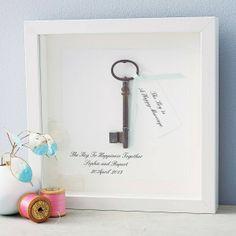 Schlüssel zu einer glücklichen Ehe Artwork-Hochzeitsgeschenkidee