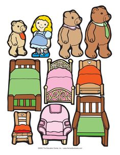 Goldilocks and the Three Bears, Lesson Plans - The Mailbox Bears Preschool, Preschool Books, Preschool Learning, In Kindergarten, Teaching Kids, Fairy Tale Activities, Literacy Activities, Fairy Tale Crafts, September Preschool