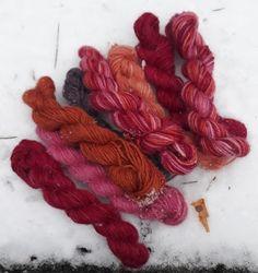 Växtfärgad garn Threading