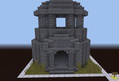 World of Warcraft Dwarf Tower - GrabCraft - Your number one source for MineCraft buildings, blueprints, tips, ideas, floorplans! Minecraft Temple, Minecraft Statues, Minecraft Castle, Minecraft Medieval, Minecraft Plans, Minecraft Blueprints, Minecraft Funny, Minecraft House Designs, Minecraft Creations