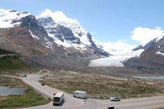 columbia ice field, alberta, canada