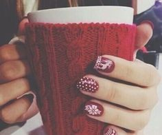 Winter Snowflake Nails ⛄️ ❄️ Bella Montreal ❄️ ⛄️
