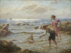 Sailing the toy boat - John McGhie