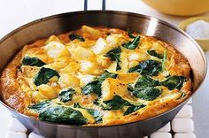 Looking for a quick and easy dinner  SPINACH & POTATO FRITATA