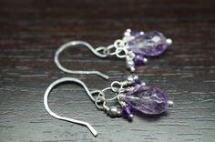 Amethyst And Sterling Silver Earrings