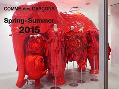"""Comme des Garçons Elephant Space """"Blood and Roses"""" by Rei Kawakubo."""