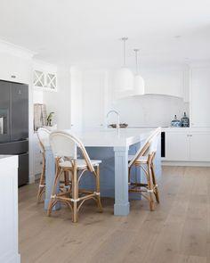 Blue Kitchen Island Ideas and Inspiration Layout Design, Küchen Design, Interior Design, House Design, Design Styles, Die Hamptons, Blue Kitchen Island, Three Birds Renovations, Kitchen Benches