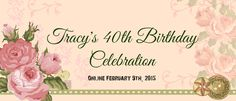 You are cordially invited to the #40yearsodawesome online birthday celebration for Tracy Sagriff owner of My Grandmas Teacups Custom Scrapbooking https://www.facebook.com/events/898342846872622/898359216870985/?notif_t=like