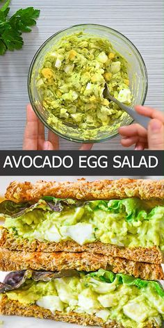 egg meals This Avocado Egg Salad is made with hard-boiled eggs, creamy avocados, tangy yogurt, and lots of herbs. So tasty, it will make a yummy addition to your meal plan. Its also easy to Lunch Recipes, Diet Recipes, Vegetarian Recipes, Cooking Recipes, Vegetarian Dinners, Wrap Recipes, Health Recipes, Recipes Dinner, Smoothie Recipes