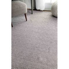 Langley Street Burnette Hand-Woven Gray Area Rug