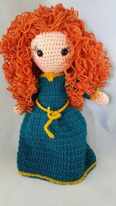 Crochet Merida inspired doll