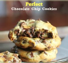 Perfect Chocolate Chip Cookies – The Baking ChocolaTess Delicious and very rich. Made about 2 dozen small cookies Perfect Chocolate Chip Cookies, Semi Sweet Chocolate Chips, Chocolate Chip Recipes, Chocolate Chocolate, Divine Chocolate, Choc Chip Cookies Recipes, Best Chocolate Chip Recipe Ever, Chocolate Chip Dessert, Ghirardelli Chocolate Chip Cookies