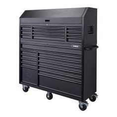 The Husky 56 in. x 23 Drawer Tool Chest and Cabinet Set is a heavy duty, steel, tool storage unit that is rated for lb. The in deep chest lid storage along with the Metal Tool Box, Metal Tools, Tool Set, Tool Storage Cabinets, Garage Storage, Garage Cabinets, Garage Tools, Garage Workshop, Garage Ideas