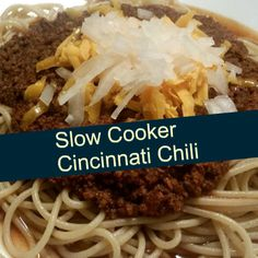 Yummy Crock Pot Cincinnati Chili You Can Do Several Ways Make your chili 3,4, or 5 ways, Cincinnati style. This is also great on hot dogs, smothered with shredded cheese. No matter what how you're gonna serve it, be sure your guests and family will be fans. A delicious and easy slow cooker recipe for …