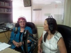 Trish speaking to Sandra Hobley during recent radio interview on YYY8736FM discussing public speaking and communication