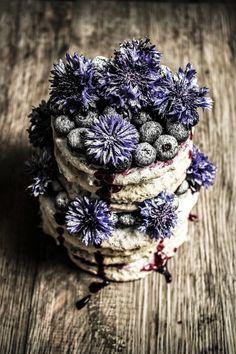 hazelnut dacquoise with blueberry cream
