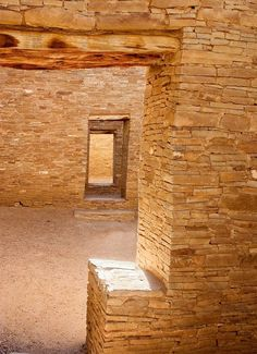 """7x10 matted to 11x14 Chaco canyon, New Mexico 3 Photograph. These doors are in the Anasazi ruins of Pueblo Bonito at Chaco Canyon in New Mexico. Chaco Canyon was the centre of the Anazasi civilization about 1000 yrs ago. It was abandoned at about 1250AD. Until the late 1800s these were the tallest buildings in North America. 7""""x10"""" print in an off white 11""""x14"""" mat. This matted print will fit a standard size frame. This print is also available in other sizes with and without mats; if you..."""