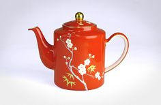 T2 Plum Blossom Oolong tea pot in red.  Gorgeous!