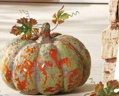 Large Ceramic Harvest Glazed Pumpkin ... drmk7133, Collection Curator > Bonanza > Woodland Tapestry
