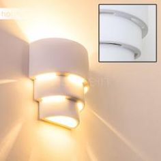Indoor White Wall Light with Great Shadow Effects, Modern Stylish Looks Decorative Indoor Wall Up and Down Lamps for Self - Painting Plaster Ceramic 60 Watts White Wall Lights, Light Up, Sconces, Modern Design, Applique, Interior Decorating, Indoor, Ceramics, Home Decor