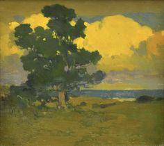Arthur Frank Mathews (California, 1860-1945) Afterglow at the Seashore