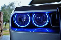 "Easy Install Halos ""Multi-Colored COBs"" for the Dodge Challenger"
