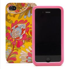 Pink and orange iPhone case from Kate Spade.