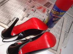 red plasti dip - make shift louboutins. Plasti dip can be used for everything! Ha.