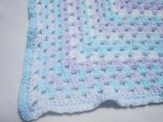 Soft Lightweight Baby Afghan Blue and by crochetedbycharlene, $29.00