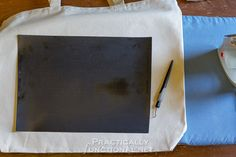 DIY Heat Transfer Canvas Tote Bag - Cut out your design mirrored