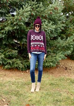 Old Navy Sweater, Plum, Maroon, Cute Casual Outfit, Tom Ford Black Dahlia