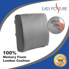 1344dd47afd Back Support Pillow Made with Memory Foam to Hep Relieve Lower Back Pain    Improve Posture. Double Adjustable Straps to Tightly Secure to Chair.