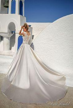 eva lendel 2017 bridal sleeveless jewel neckline heavily embellished bodice elegant romantic detachable satin skirt a  line wedding dress lace back royal train (talia) bv