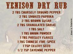 How To Cook Venison, Venison Jerky, Venison Chili, Cooking Venison, Venison Burgers, Dry Rub Recipes, Jerky Recipes, Venison Recipes, Deer Recipes