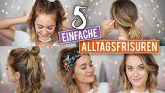 5 SCHNELLE ALLTAGSFRISUREN für kürzere Haare - Long Bob | SNUKIEFUL - YouTube