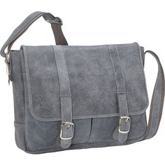 David King & Co. Double Strap Messenger (3 740 UAH) ❤ liked on Polyvore featuring bags, messenger bags, grey, purses, grey bag, flap messenger bag, flap bag and grey messenger bag
