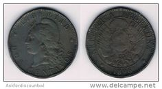 Argentina : 2 centavos 1896 - VF - Free shipping in Belgium - Delcampe.be