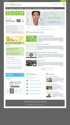HDL-Intranet by Jason Head, via Behance