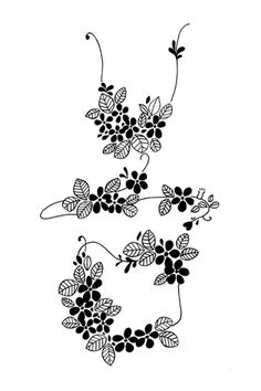 "The Korean alphabet, Hangul.   meaning, ""spring(봄)""   / sketch(hand-drawn)"