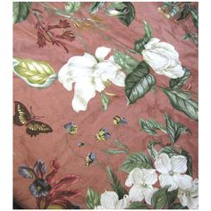 Large 4 1/2 Yd Remnant of Waverly Screen Printed Cotton