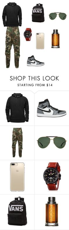"""""""Untitled #147"""" by augustina0501 ❤ liked on Polyvore featuring Aether, NIKE, R13, Gucci, Speck, Vans, BOSS Hugo Boss, men's fashion and menswear"""