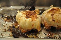 roast garlic and camembert