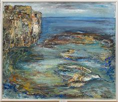 ULLA WALE ULLA WALE, olja på duk, signerad.  Landskap med klippor.