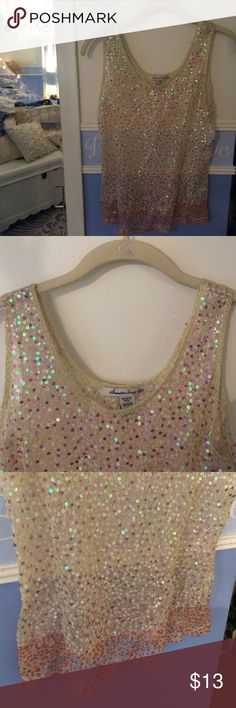 American Rag sequined tank Sheer sequined tank. Never worn, originally from Macy's. Great for any season American Rag Tops Tank Tops
