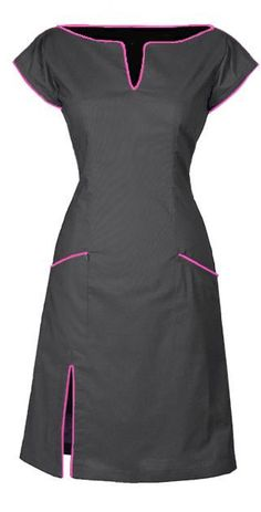 CONNIE - GREY. DRESS IN ORGANIC COTTON The dress is made from 100% organic, cotton [GOTS-certified] with an elasticated panel at the back and side zipper to make it more flexible. The dress is lined with a very comfortable bamboo-silk.